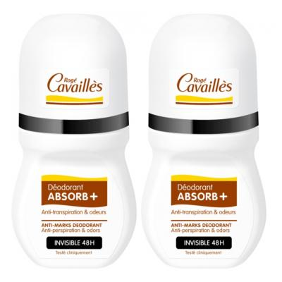 ROGE CAVAILLES DEODORANT INVISIBLE ROLL ON 2X50ML