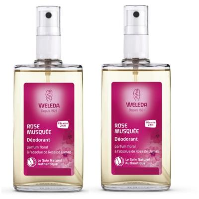 WELEDA ROSE MUSQUEE DEODORANT SPRAY 2X100ML