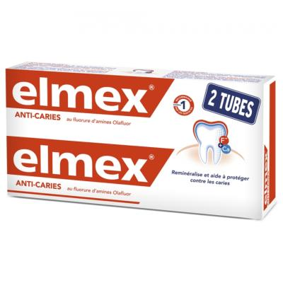 ELMEX DENTIFRICE ROUGE LOT DE 2X75ML